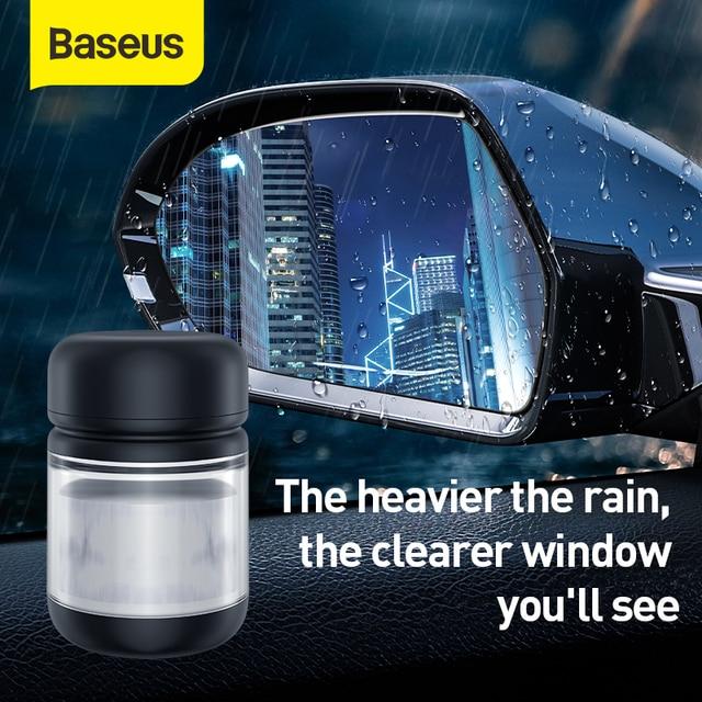 Baseusรถกันฝนตัวแทนกระจกหน้าต่างรถทำความสะอาดรถอุปกรณ์เสริมตัวแทนกันน้ำAnti Rain Autoกระจก100Ml Anit หมอก