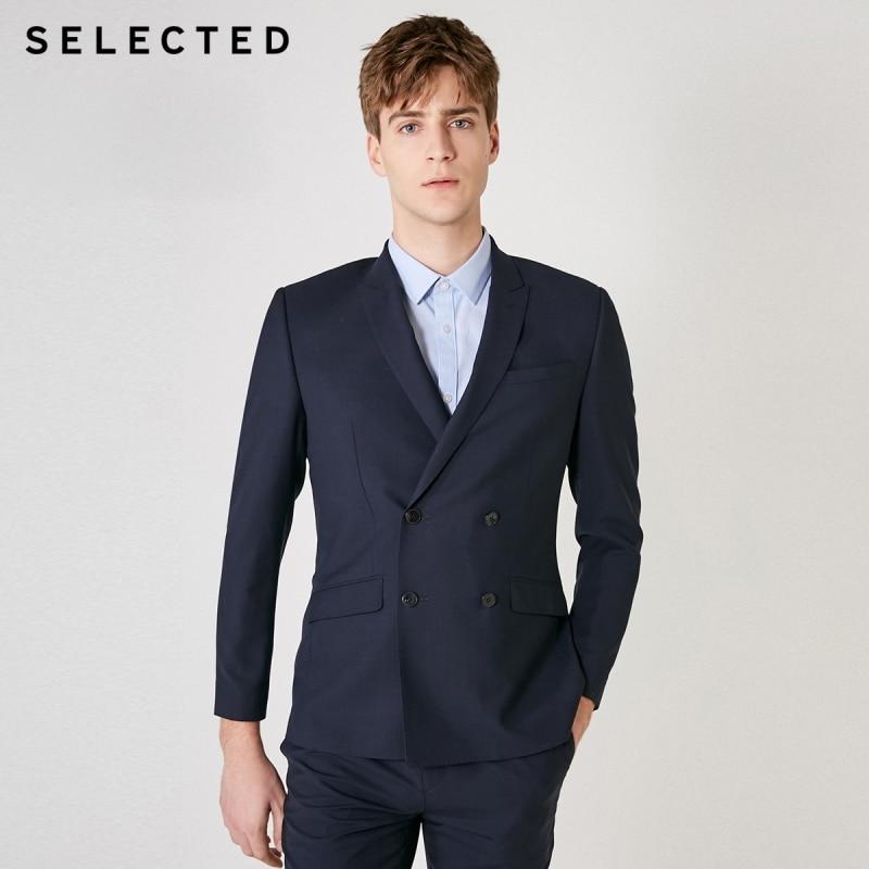 SELECTED Men's Slim Fit Woolen Jacket Business Wool Blazer T|41925Y504