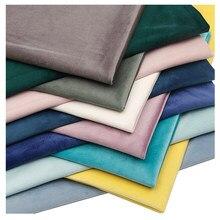 Tecido de veludo engrossado holandês veludo cor sólida tecido de veludo curto sofá travesseiro pano contra pano de veludo de alta qualidade pano de veludo
