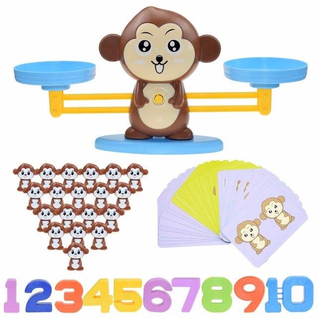 משחק מאזניים מתמטי לילדים - בעיצוב חיות 2