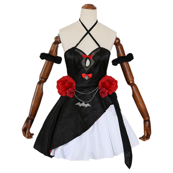 Game Azur Lane HMS Vampire Cosplay Costume Lolita Dress Lana Roi Blessed Wedding Black Dress Female Girls Halloween Costumes