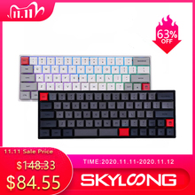 SKYLOONG SK66 Mechanical Keyboard RGB Gaming 66 Keys Gateron Blue Switches Wireless Bluetooth Keyboards Programmable For Mic/Win