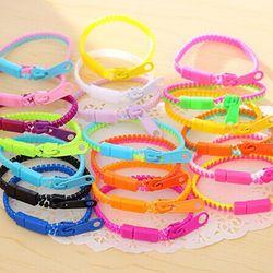 Fluorescent rainbow color level personalized zipper bracelet bracelet