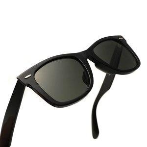 Image 3 - Gafas de sol con lentes de cristal para hombre y mujer, lentes de sol unisex con diseño Vintage, adecuadas para conducir, gafas para nadar reflectantes, cuadradas y elegantes