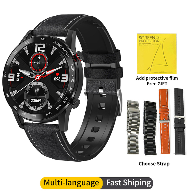 2020 New DT95 Smart Watch IP68 Waterproof Bluetooth Call 360*360 ECG Heat Rate 1.3inch TFT Sleep Monitor VS L16 L13 Smartwatch 1