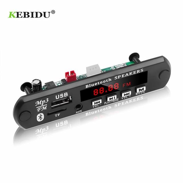 KEBIDU Decoding Board Module Bluetooth MP3 LED 12V DIY USB TF FM Radio Module Wireless Bluetooth Decoder Record MP3 Player