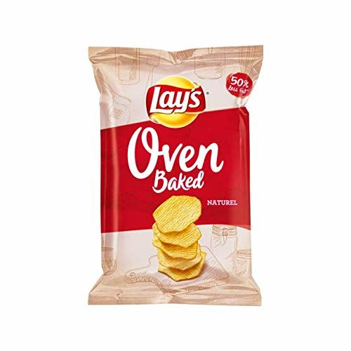 Natural Flavor Crisps | Lay's | Oven Baked Natural Salt Chips | Total Weight 165 Grams