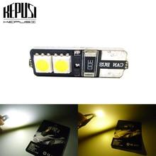цена на Canbus T10 194 168 W5W Car LED Bulbs 4 SMD 5050 Side Wedge Light Instrument Panel Lamp Error Free White Warm White DC 12V