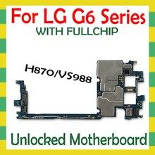 Desbloqueado placa base para LG G6 H870 VS988 H870DS 2sim placa base Original con chip completo desbloquear placa lógica placa madre Android