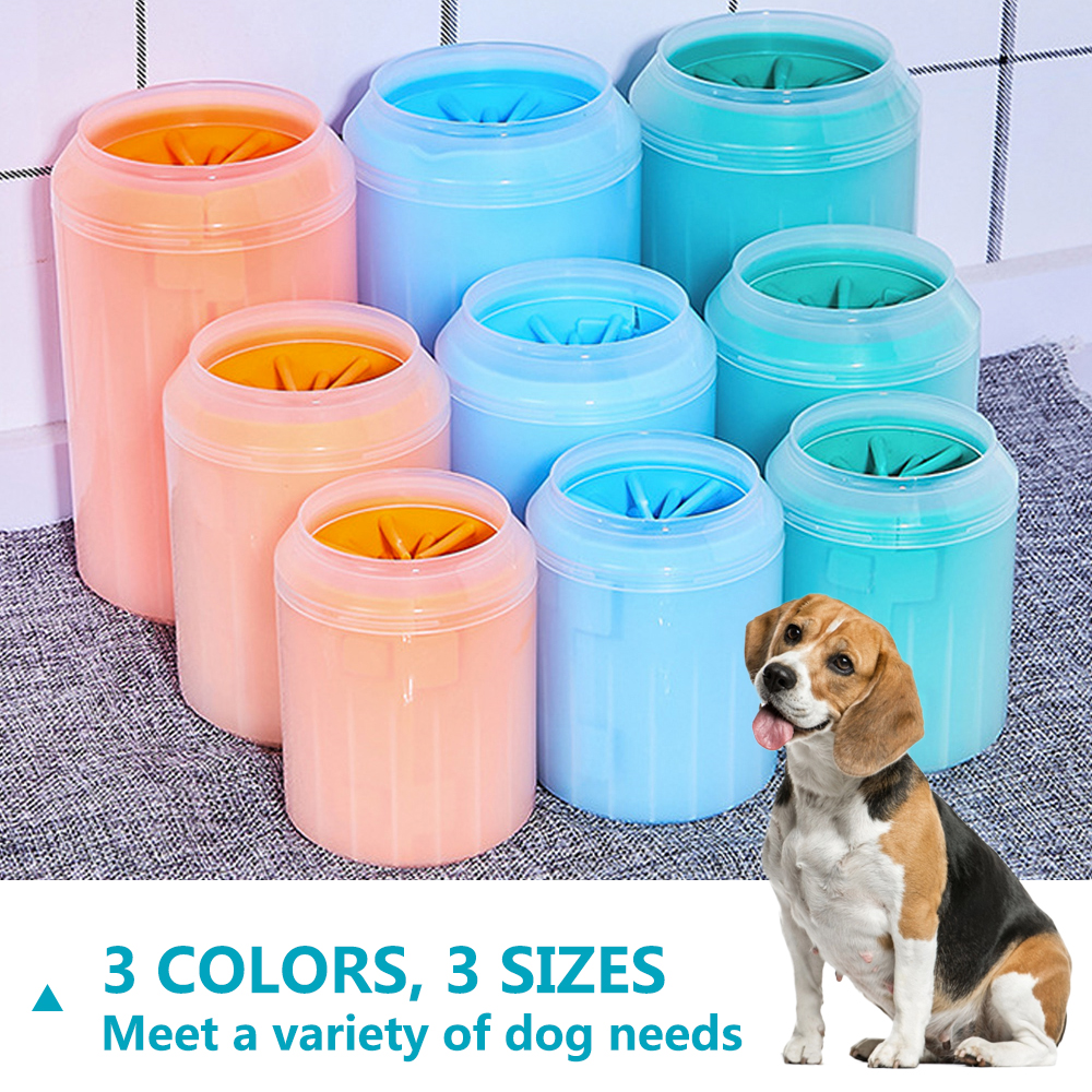 dog paw washer cup