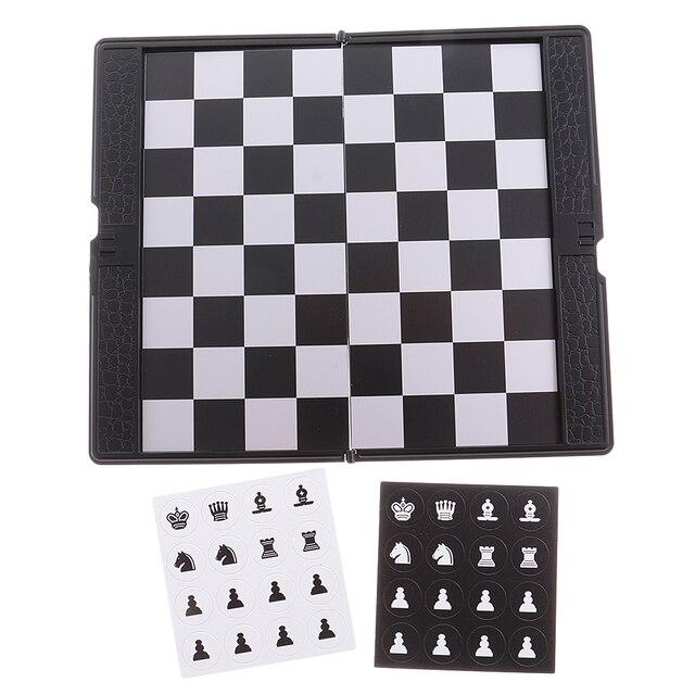 Mini portefeuille d'échecs de voyage magnétique mis bon cadeau de conception pour le voyage Durable 4
