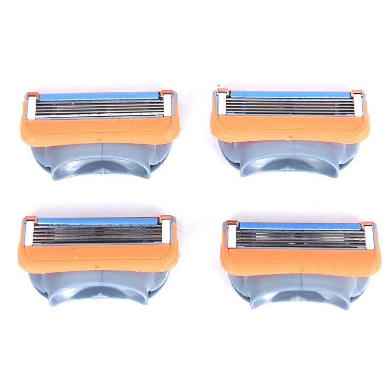 4 шт./упак. бритвенные лезвия Для мужчин бритва 5 слоев лезвия высокое качество мощный Бритва Уход за лицом Для мужчин