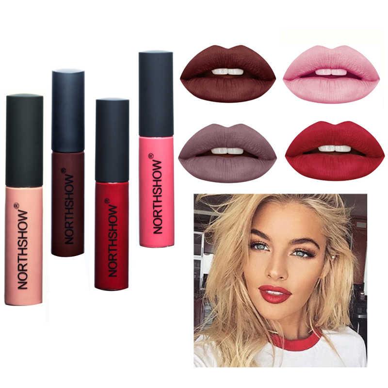 Matt Flüssigen Lippenstift Lang Anhaltende Lip Gloss Samt Lip Glasur Perlglanz Kosmetik Schimmer Metall Lippenstift Make-Up Schönheit Lippen