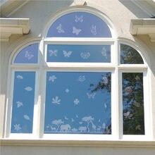 Tamanho grande anti-colisão janela vara formas de folha alerta pássaro adesivos silhuetas transparente decalque evitar aves greves janela