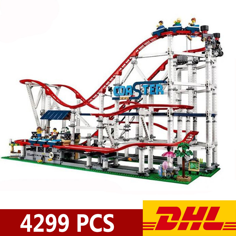 DHL 15039 18003 10261 4299Pcs Oversized Roller Coaster Assembly Toy City Street View Building Blocks Children's Birthday Present