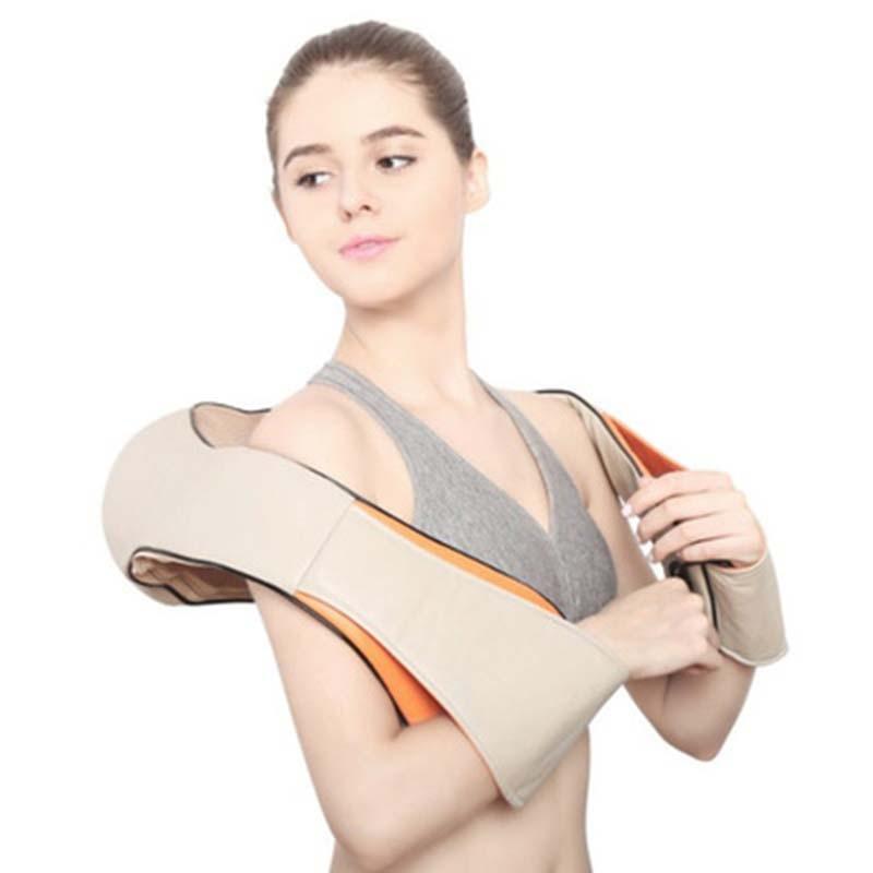 U Shape Electrical Shiatsu Back Neck Shoulder Massager Body Spa Infrared 4D kneading Massage Device Car Home Dual Use Masaje