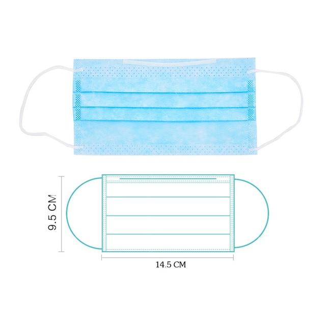 10-100 PCS Kid Mask Fast Delivery Disposable Protective Mask to Safety Masks Dustproof Children Masks Child Prevent Disease Mask 2
