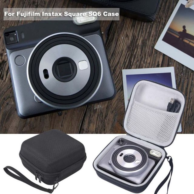 Carrying Bag Storage Box Protective Case Shell Portable Travel Shockproof for Fujifilm Instax Square SQ6 Camera