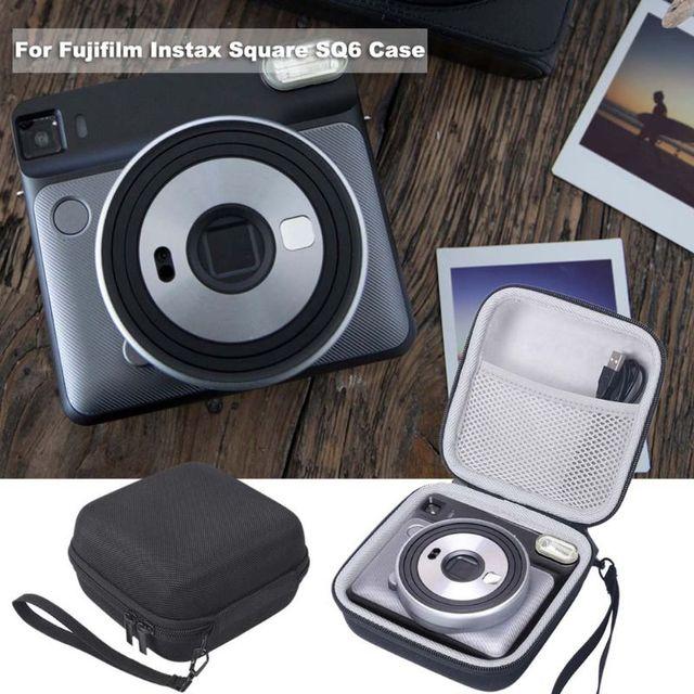 กระเป๋าเก็บกล่องกรณีป้องกันแบบพกพากันกระแทกสำหรับ Fujifilm Instax Square SQ6 กล้อง