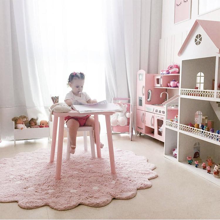 40cm//Watermelon HOUTBY Round Crystal Velvet Baby Play Mat Cute Cartoon Kids Rug Household Carpet Child Tent Nursery Rooms Decoration