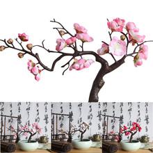 25 # sztuczne kwiaty spadek wystrój sztuczne kwiaty sztuczne kwiaty ze sztucznego jedwabiu sztuczne kwiaty kwiat śliwy kwiaty na ślub bukiet Party Decor tanie tanio ISHOWTIENDA CN (pochodzenie) Hanging Garland Plum blossom Kwiat + wazon Kwiat Bonsai AS SHOW