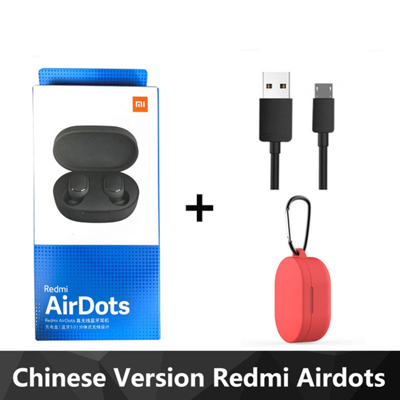 Original Xiaomi Redmi Airdots TWS Bluetooth 5.0 Earphone Wireless Noise Cancellation With Mic Handsfree Earbuds HD Sound Quality