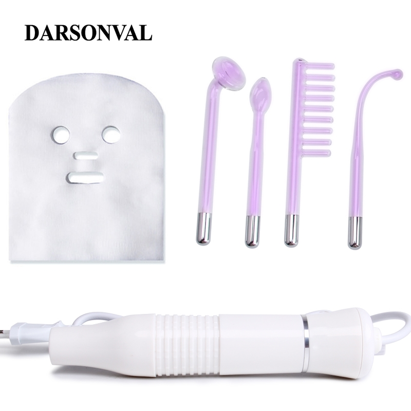 DARSONVAL Portable High Frequency Device Violet Ray Facial Machine Acne Remover Purple Light Machine For Face Face Massager SPA-in Face Skin Care Tools from Beauty & Health