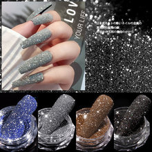 1 коробка кристаллический алмазный порошок для ногтей лазерная