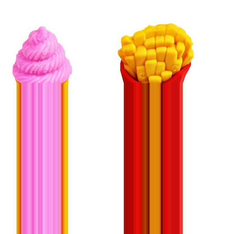 4Pcs Kawaii Pencil Eraser Fruta Vegetal Sorvete Batatas fritas Silgi Earsers Para Crianças Goma de Borracha Material Escolar Papelaria