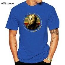 Jason voorhees eu odeio as pessoas do vintage masculino preto t camisa de algodão S-3Xl nova unisex engraçado topos camiseta