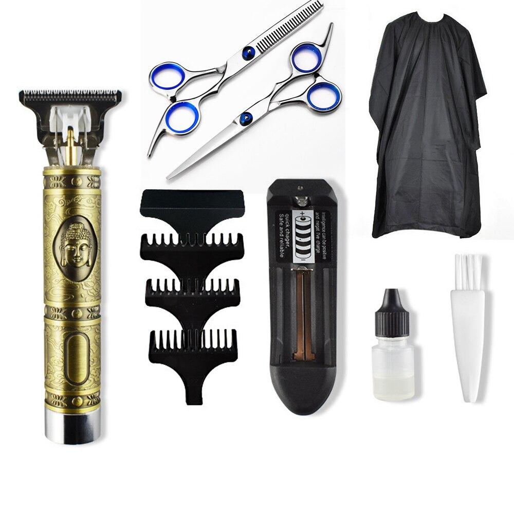 2020 Close-cutting Digital Hairdresser Electric Hair Clipper Professional Barber Men Hair Trimmer 0mm T-Blade Beard Hair Clipper