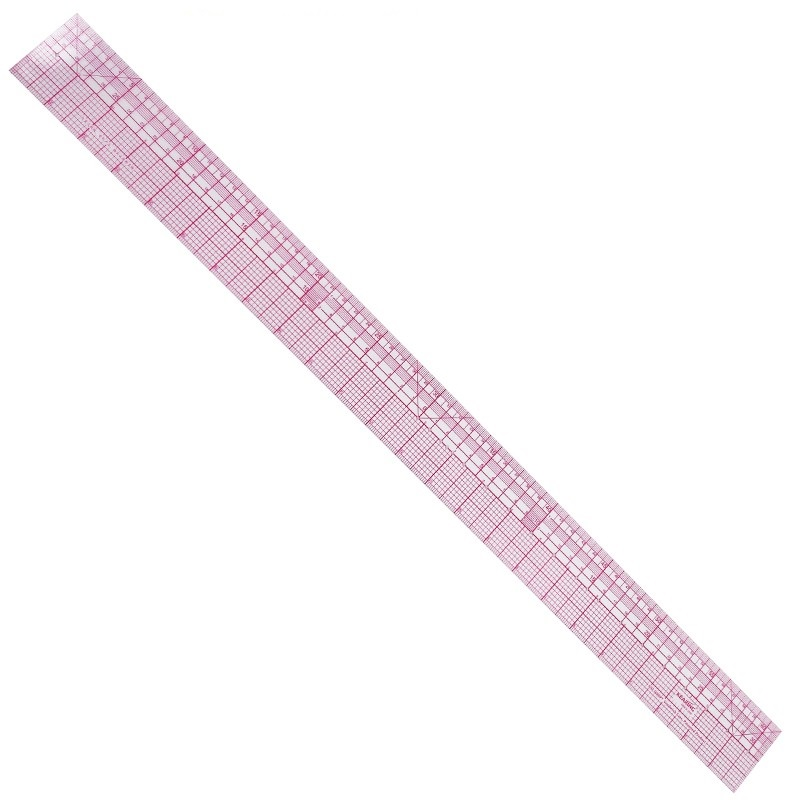 60cm Graph Ruler Transparent Straight Ruler Clothing Design Tailor Ruler H8097