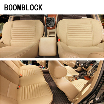 BOOMBLOCK Car Seat Covers Cushion Genuine Leather For Bmw E46 E39 Audi A3 A6 C5 A4 B6 Mercedes W203 W211 Mini Cooper Accessoreis image