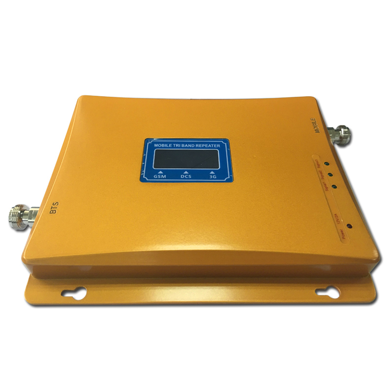 Tri Band Amplifier Cellular Repeater 900 1800 2100 Mhz Mobile Phone Signal Booster ,antenna Not Included