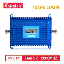 Lintratek 70dB 2600mhz 대역 7 LTE 4G 셀룰러 신호 부스터 4G 2600 모바일 네트워크 데이터 휴대 전화 리피터 앰프 AGC s4