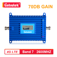 Lintratek 70dB 2600mhz Band 7 LTE 4G Cellular Signal Booster 4G 2600 Mobile Network Data Mobile Phone Repeater Amplifier AGC s4