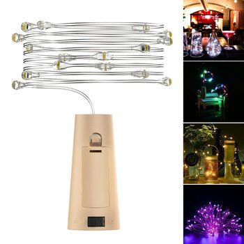 1M 2M LED Garland String Fairy Lights Wine Cork String Lights Lamp for Glass Bottle Christmas Tree Wedding Party Decoration image