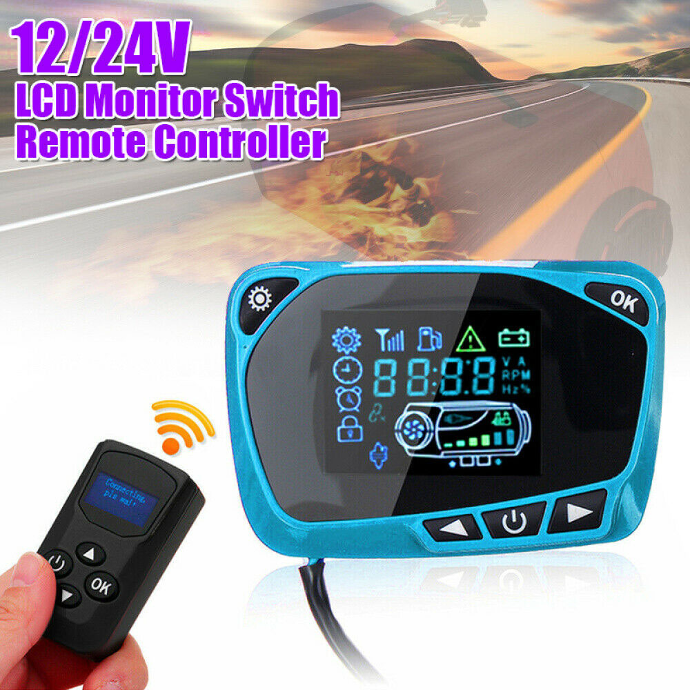 Display-Switch LCD for Diesel-Air-Heater 12/24v Brand-New High-Quality W/remote-Controller title=