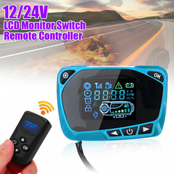 LCD Thermostat Display Switch W/Remote Controller For Diesel Air Heater 12/24V Brand New And High Quality