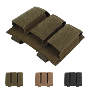 Tactical Molle Military Pistol Ammo Clip Triple Magazine Pouches Small Bag Glock Accessories Pouches