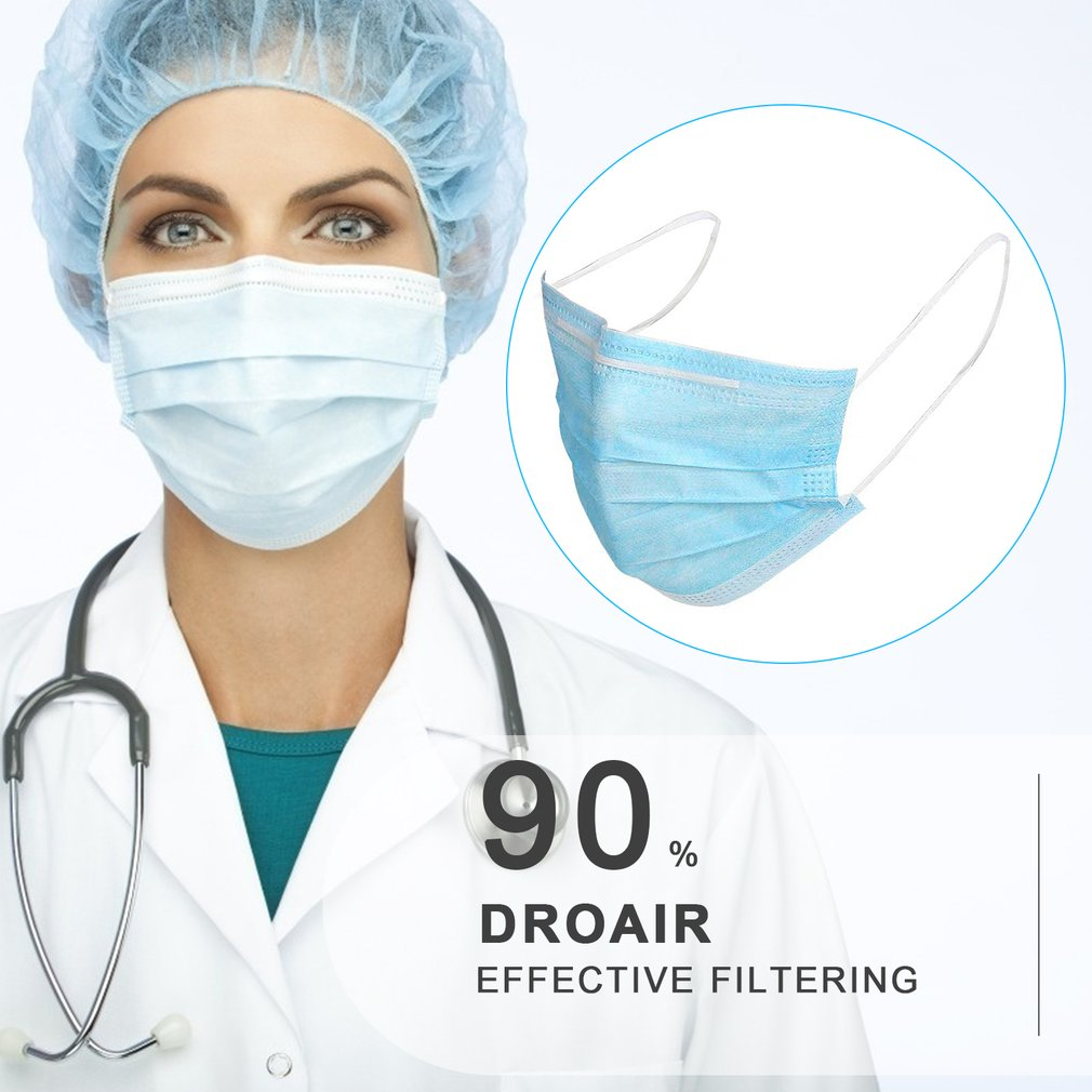 10/20/40/50Pcs 3-Ply Anti-Dust Disposable Surgical  Salon Earloop Face Mouth Masks Facial Mask Dropshipping