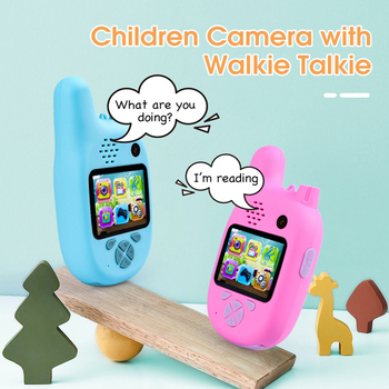 Kids Walkie Talkie Camera Camcorder Mini Video 1080P HD Toy MP3 Music Player Game Best Gift for Children
