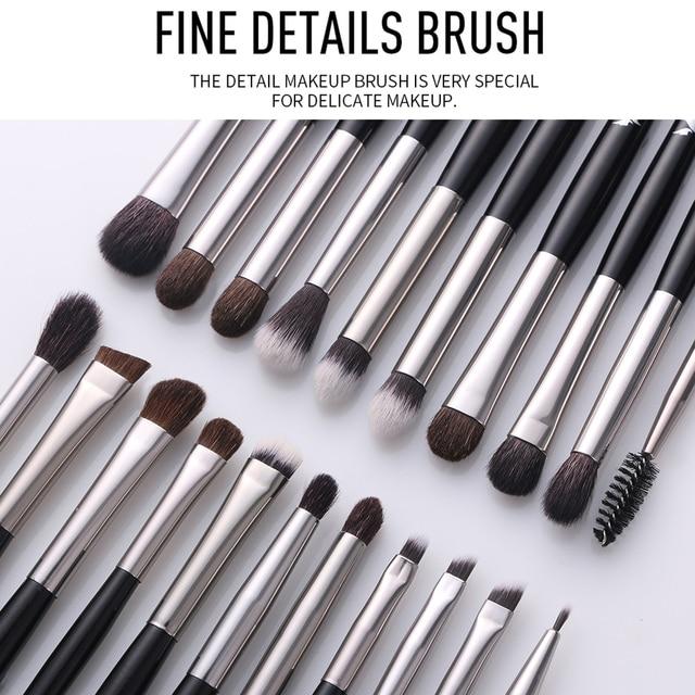BEILI 1 piece Black Professional Synthetic Makeup brushes Highlighter Blending Blush Eyebrow Eyeliner make up brushes 4