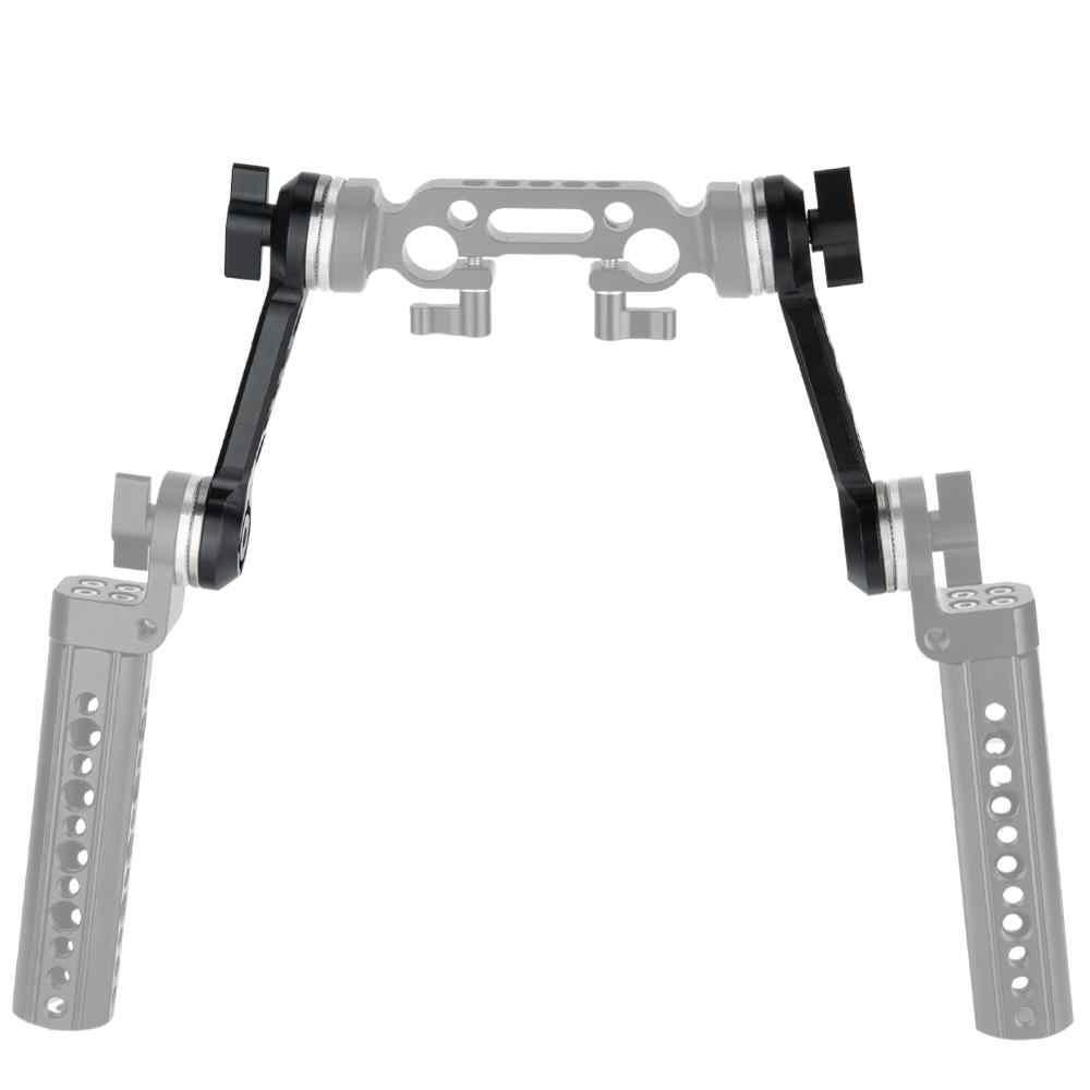 Niceyrig Schouder Rig Arri Rozet Extend Arm Kaas Ondersteuning Arm Dslr Camera Rig Cage Handvat Mount Aluminium (Pak Van 2)