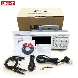 Image 4 - ملتقط الذبذبات الرقمي UNI T UTD2102CL المحمولة 100MHz 2 قنوات 500 عينات عملاقة/ثانية USB راسم الذبذبات Ociloscopio autootivo Portatil