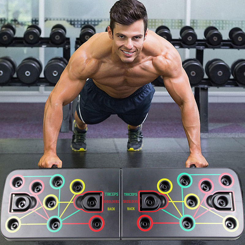 9 In 1 <font><b>Push</b></font> <font><b>Up</b></font> Board Exercise Equipment For Home Gym Body Building Men Training Fitness Women Workout <font><b>Sport</b></font> Pushups Rack image