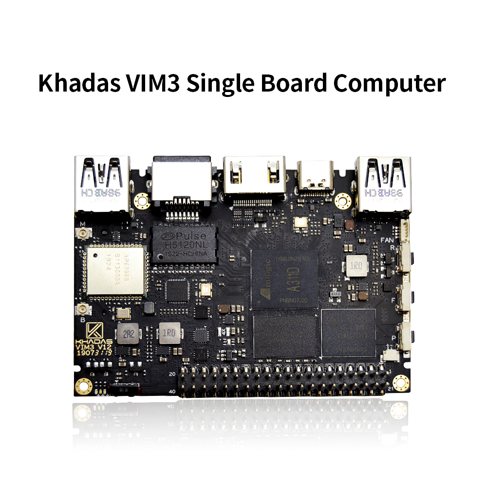 Khadas Vim3 Sbc Amlogic A311D SoC Support Linux Ubuntu Debian Android With 5.0 TOPS NPU Single Board Computer