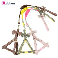 Get more info on the Zichen Dog Harness Leash Set Adjustable Plaid Bow Harness For Dog Harness Training Leash Double Layer Pet Accessories S-M