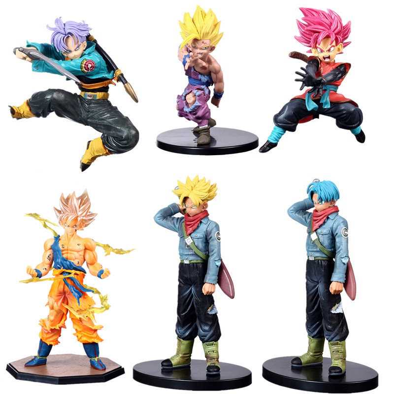 Dragon Ball Z Trunks Future First Coming Jump Up Purple Hair Style Figure DBZ Goku Trunks Super Saiyan Action Figure Collection