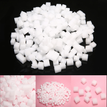 300 sztuk 10*10mm symulacja galaretki kostki dla majsterkowiczów szlam galaretki Cube przezroczysty Slime Relief gliny dziewczyny dekoracja rzemieślnicza zabawki materiał tanie i dobre opinie Mieszanina Z tworzywa sztucznego